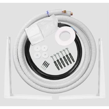 kit de instalacao ar condicionado 7 e 9 mil btus 3 metros com suporte
