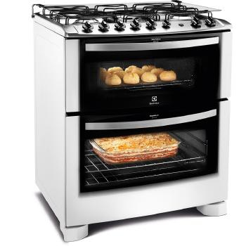 Fogão 5 Bocas Electrolux Duplo forno com timer