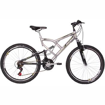 bicicleta aro 26 24 marchas big rider full suspension mormaii