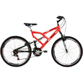 bicicleta aro 26 24 marchas big rider full suspension mormaii