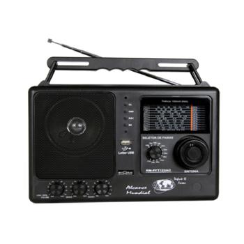 Rádio Motobras Portátil com 12 Faixas USB e SD CARD