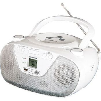 RÁDIO TOSHIBA 2 WATTS RMS AM/FM CD MP3 USB
