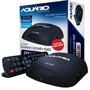 Conversor e Gravador Digital TV Aquario