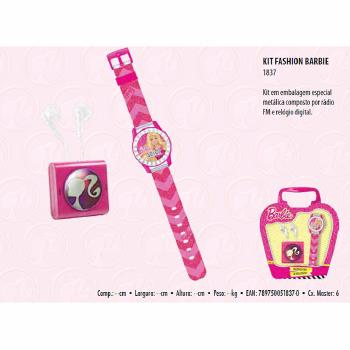 Kit Fashion Barbie Candide Rádio Relógio