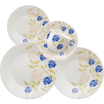 Conjunto de Chá e Jantar  Oxford Azul Perfeito 20 Peças