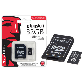 CARTAO DE MEMORIA CLASSE 10 KINGSTON SDCIT/32GB MICRO SDHC INDUSTRIAL 32GB COM ADAPTADOR SD UHS-1